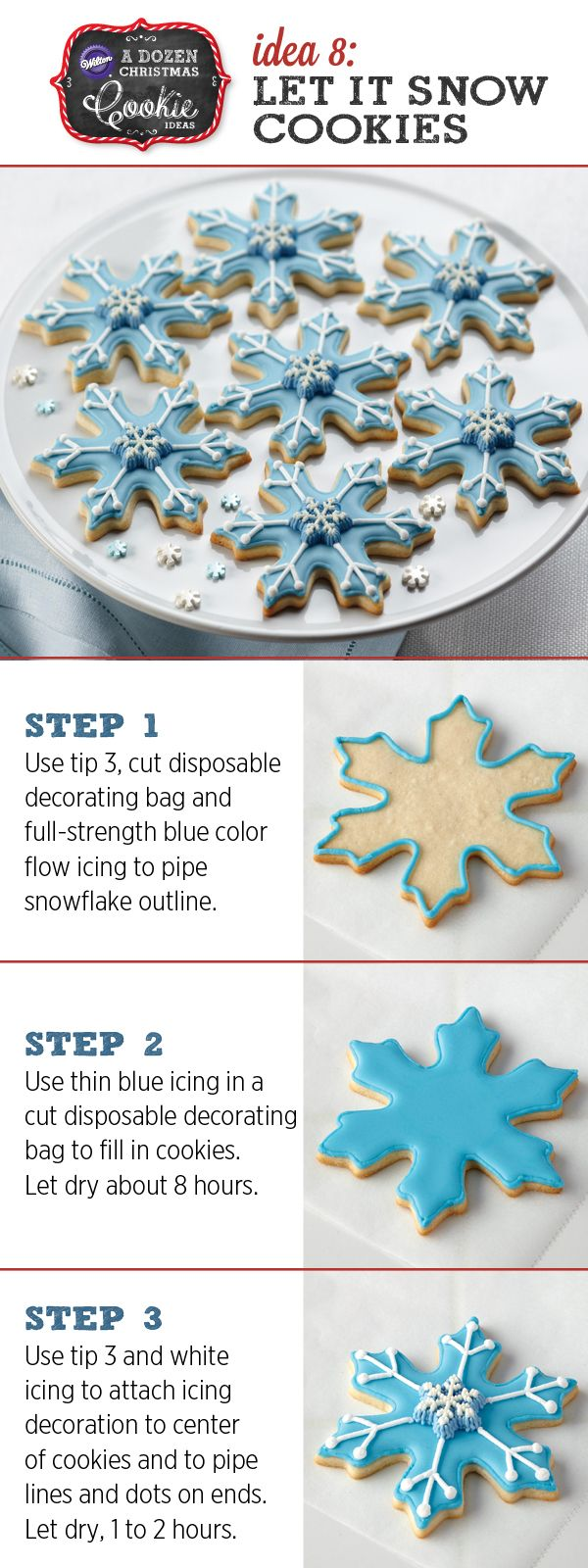 We're loving these understated Christmas Cookies: Let It Snowflake Cookies!