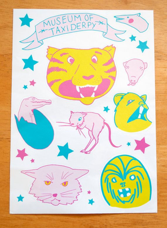 Museum of Taxiderpy Sticker Sheet