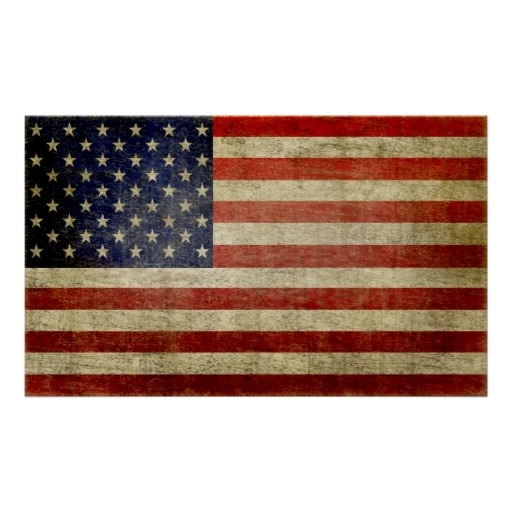 Weathered, distressed American Flag Print $21.85