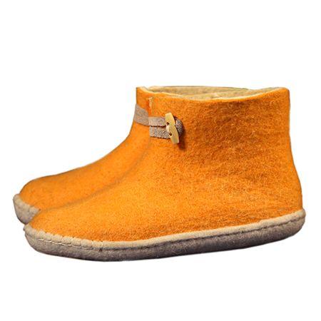 Vilten damesslof High Boots yellow
