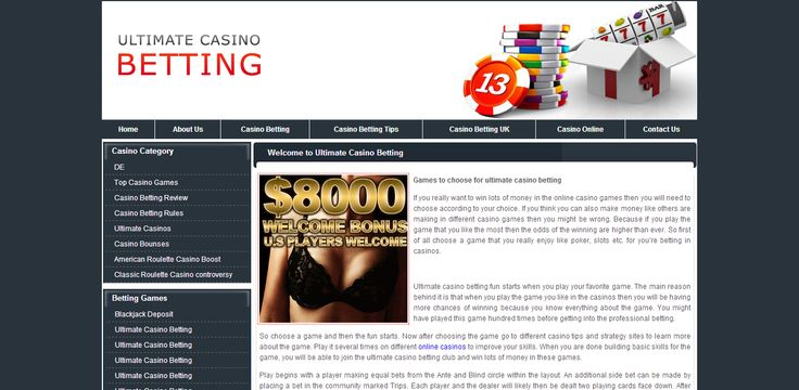 Ultimate casino betting site provides a very ultimate information on online casino gambling