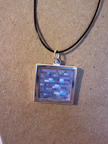 Minecraft diamond pendant necklace minecraft necklace by minecraft diamond pendant necklace minecraft necklace by oneredthreadtn on etsy graces crafts pinterest minecraft crafts etsy and leather cord aloadofball Choice Image