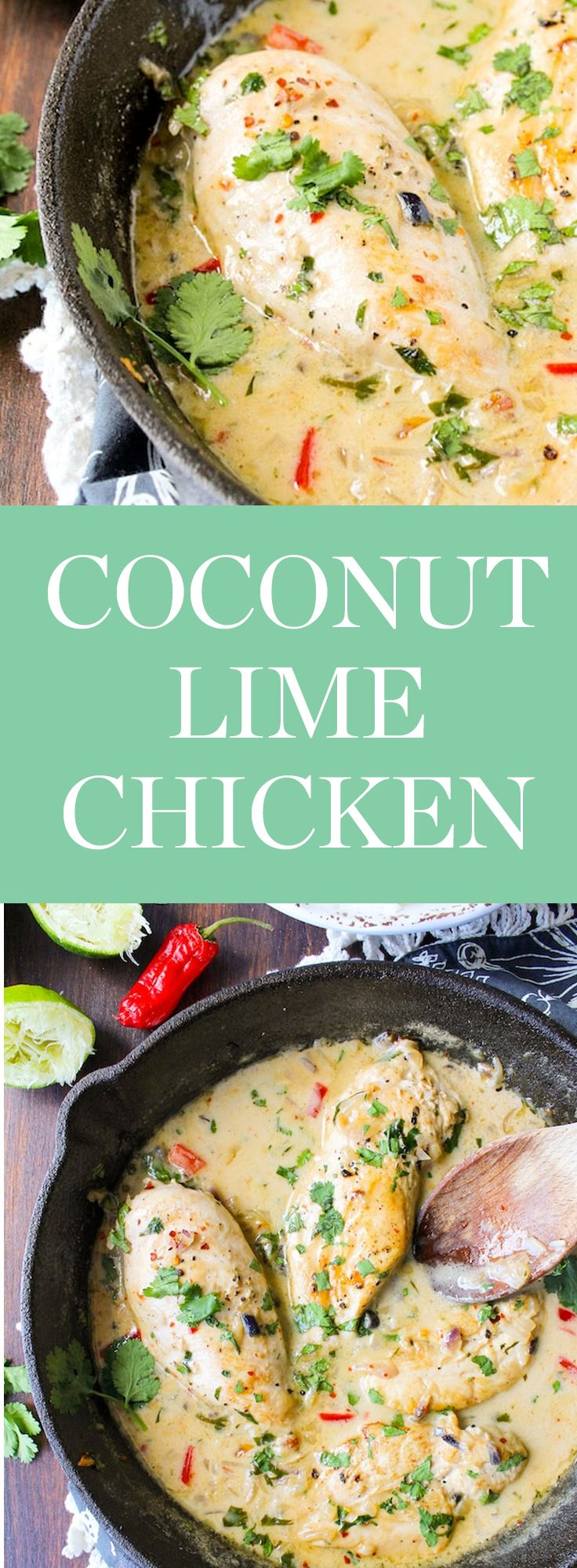 Try out this Coconut Lime Chicken recipe from A Saucy Kitchen and get 20 more whole 30 recipes you can eat all week long.