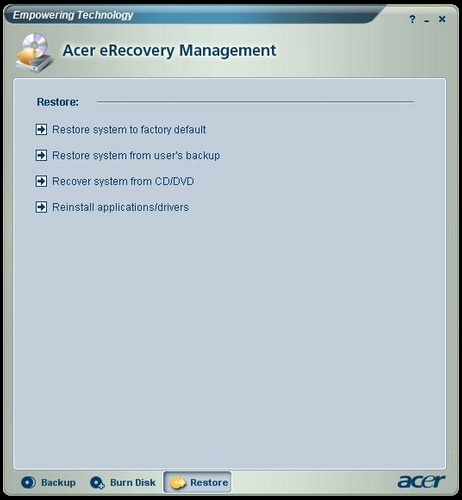 How to restore/format your Acer desktop/laptop without recovery disks
