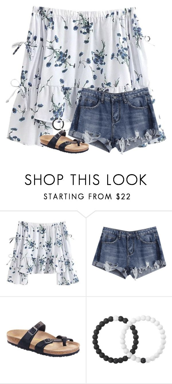 """""""Missing that summer heat ☀️"""" by allyxcarlisle ❤ liked on Polyvore featuring Birkenstock and Lokai"""