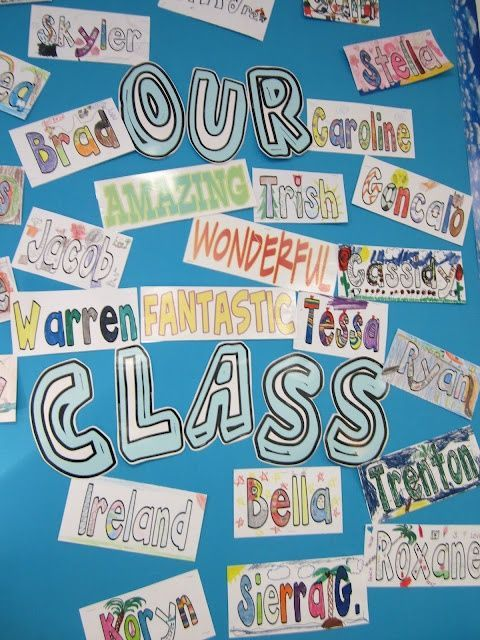 Have your students decorate their names with things they enjoy. They can color them in, use magazines to decorate, etc. You could have a theme for each letter of the name...First letter is favorite color, second letter is favorite food, etc. if you wish! Great get to know the students activity!