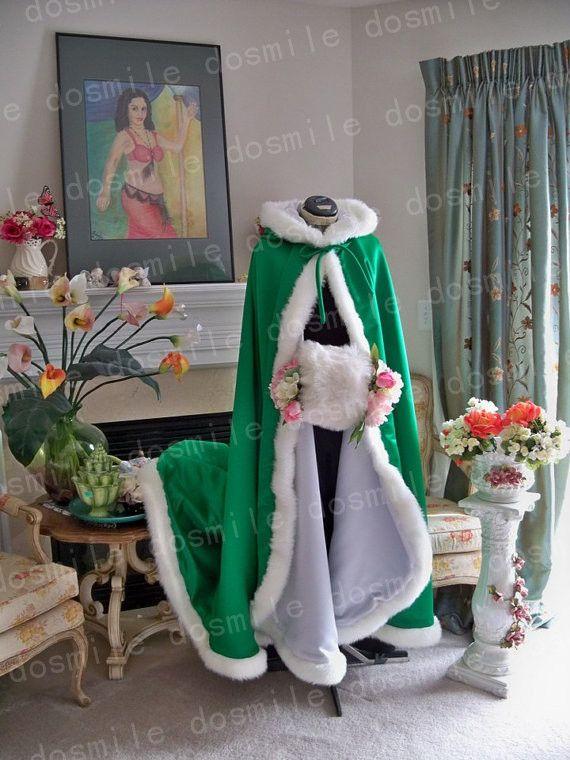 Настроить капюшоном с фо меховой отделкой длинным для невесты зимний свадебное плащ накидка с меховой отделкой ручной рождество атласная люкс мыс