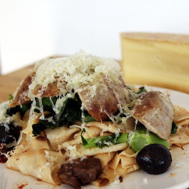 """""""Upped the homemade pasta game with a big pile of grated #CDNcheese from Glengarry. #SimplePleasures"""" - David Ort"""