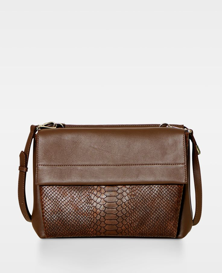 Double bag with flap