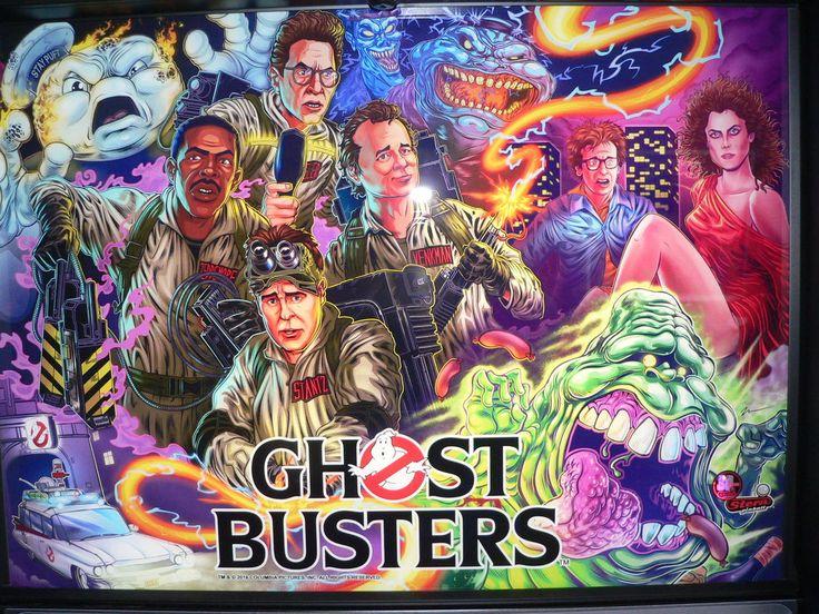 Ghostbusters, Stern Pinball, May 2016, backglass