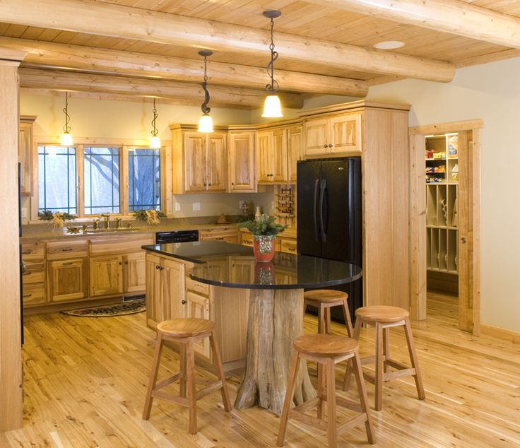 Modified a frame house plans log homes cabins and for Kitchen design 8 x 5