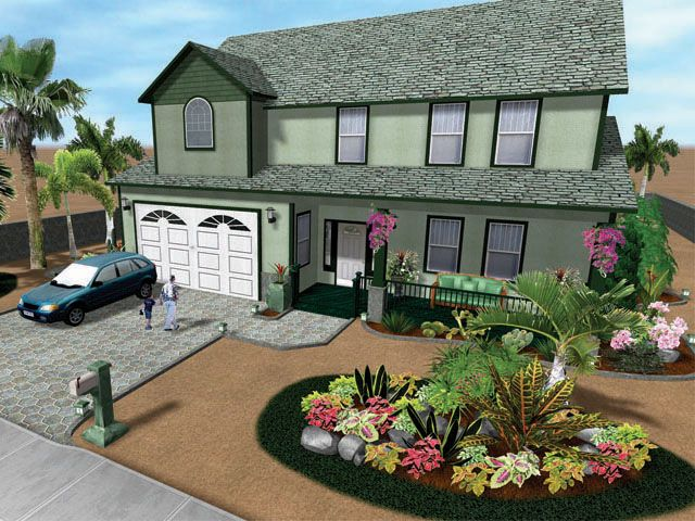 Front yard landscaping ideas on a budget landscape for Garden design ideas for front of house