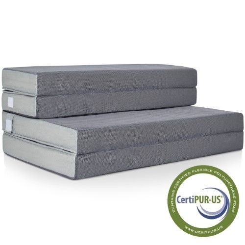 Best Choice Products 4' Folding Portable Mattress Queen, Grey http://campingtentlovers.com/best-cabin-camping-tents/