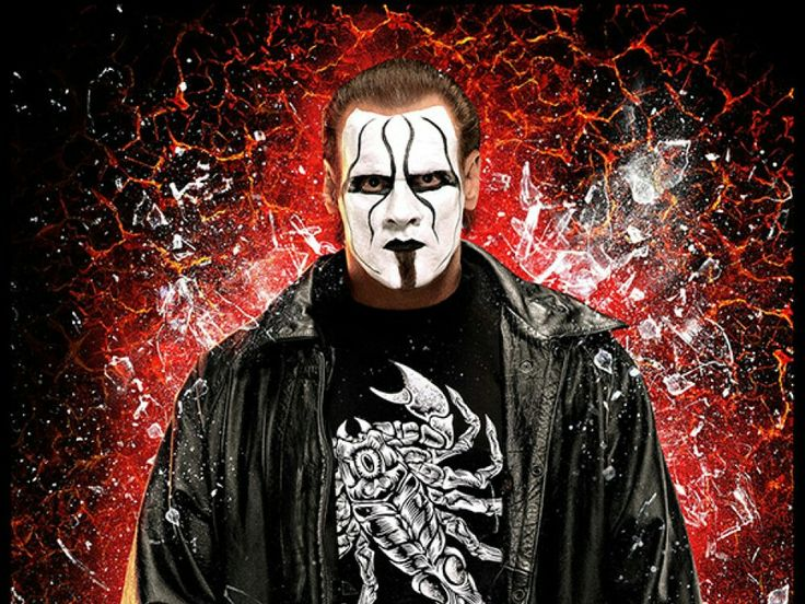 WWE picture a crack window effect Sting