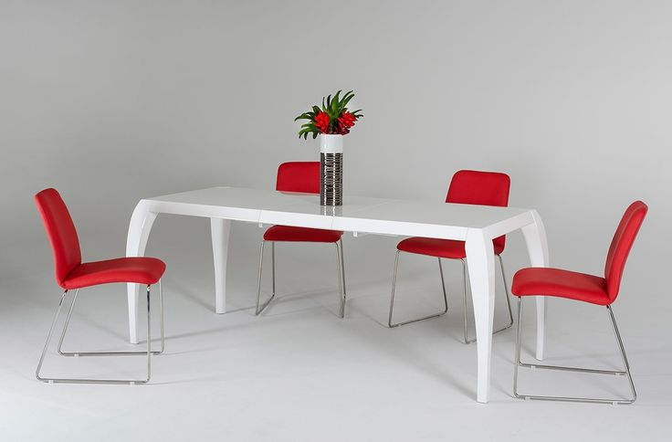 Isabel Modern White Expandable Table - Modern Dining - Dining Room