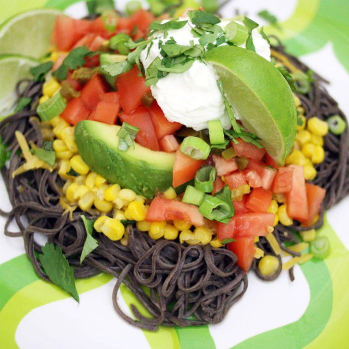 Mexican Black Bean Spaghetti