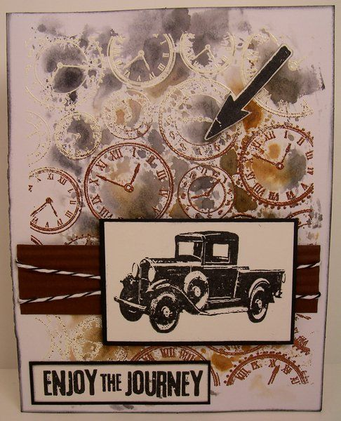 Tim Holtz stamps....i want that car stamp!!!  I have a great car from the front but not one from the side!!!