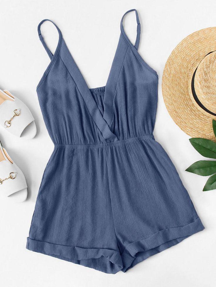 Macacões casuais simples com estampa azul – não perca estes vestidos casuais simples …