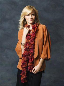 Écharpe avec fioritures crocheté