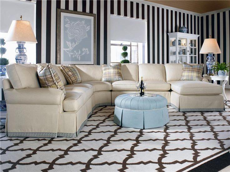 2000 Eight Step Custom Customizable Modular Sectional Sofa by Century - AHFA - Sofa Sectional Dealer Locator