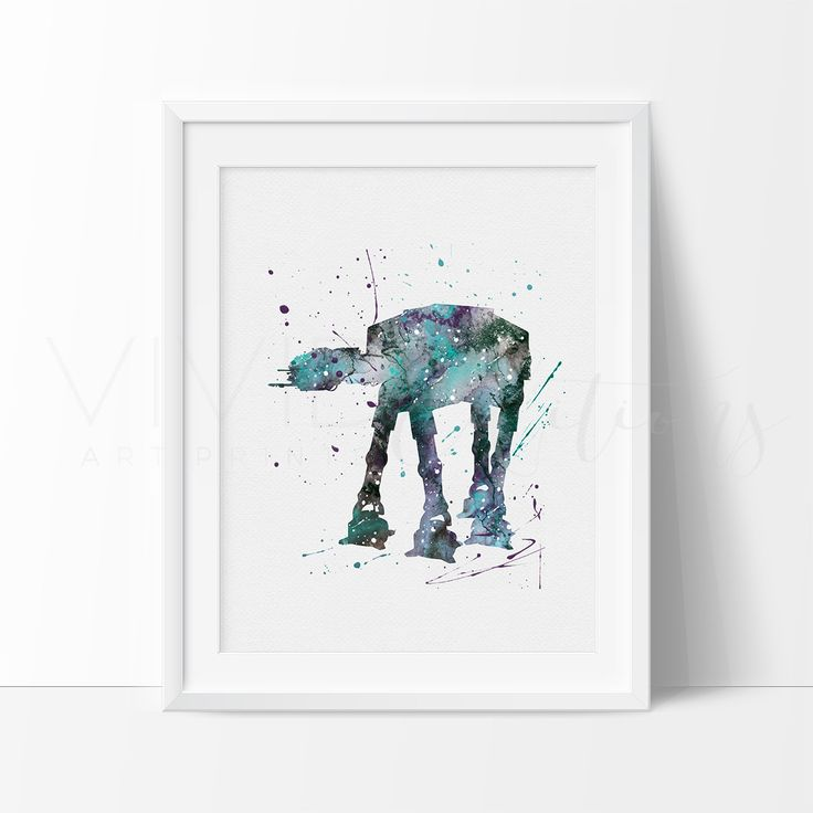 At-At Walker Star Wars Nursery Art Print Wall Decor