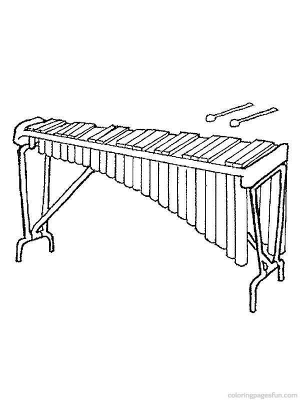 percussion instrument coloring pages - photo#36