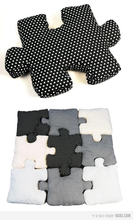puzzle pillows. fun!