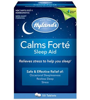 Don't even think about another bad night's sleep. Your body is built to rest. Calms Forté® uses four homeopathically-prepared botanicals to ease your body and your mind, plus six minerals to soothe nerves and edginess. Calms Forte contains no sedatives so you can wake up feeling refreshed, not groggy. This natural and safe sleeping aid has helped people get their much needed zzz'sfor over 50 years. • Temporary symptomatic relief of nervous tension and occasional sleeplessness • Soothing...