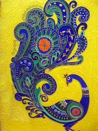 Peacock - Ariya Nair - Tanjore Murals