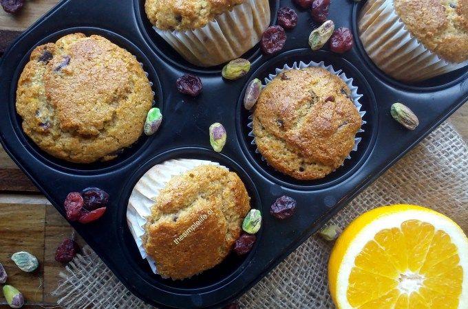Los Mejores Muffins de Naranja y Cranberry (Sin Azúcar).