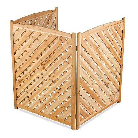 Wood Lattice Air Conditioner Screen