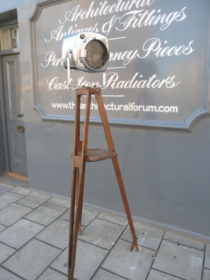 antique tripod light