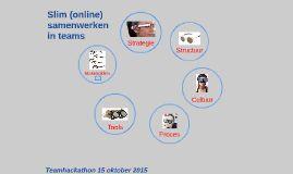 Presentatie over de 6 brillen waarmee je naar online samenwerken kunt kijken - strategie - stakeholders- structuur - cultuur- tools en proces