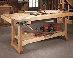 Classic woodworking bench