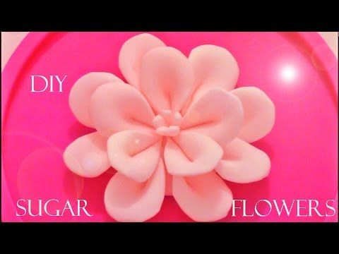 DIY como hacer flores Kanzashi de fondant - how to make fondant flowers Kanzashi - YouTube