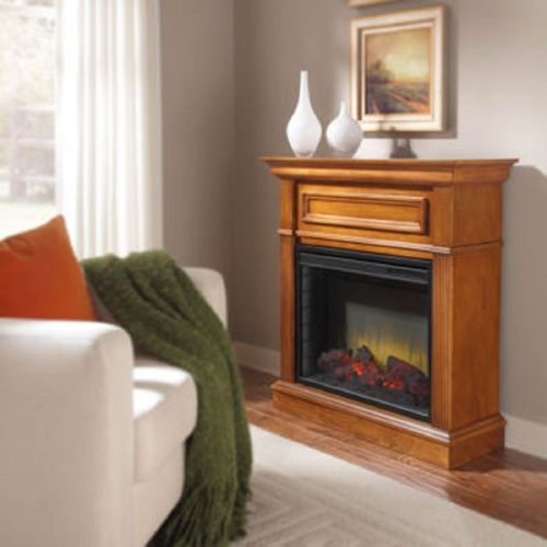 New electric fireplace space heater family dining or for Living room heater