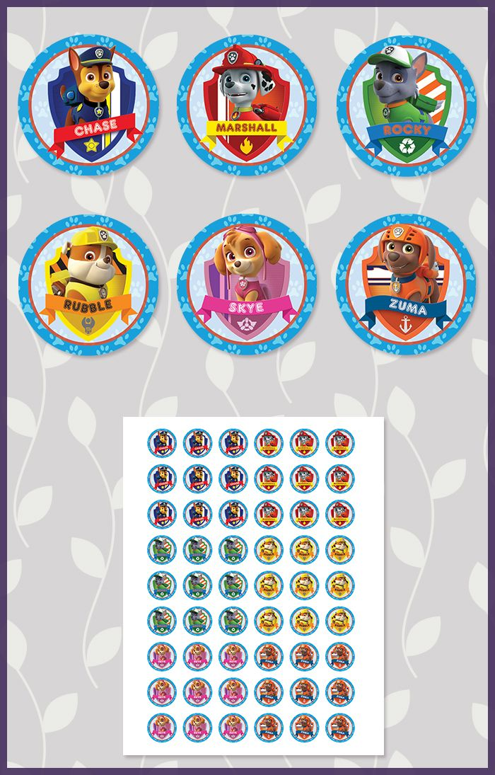 Paw Patrol Printables Free With Instant Download Or Have Us Personalize Them For You Paw Patrouille Paw Patrol Anniversaire Pat Patrouille