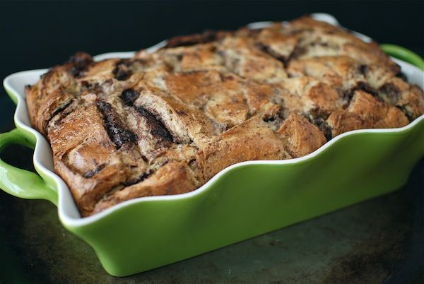 Nuttella Croissant Bread Pudding - very indulgent recipe...planning this as my contribution to a NYE potluck (that way I won't eat the whole thing!)