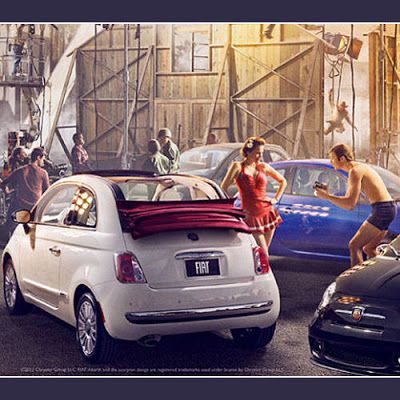 "5ooblog | FIAT 5oo: New Fiat 500 US Ad ""Homage to Hollywood"""