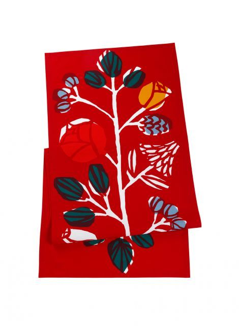 ale 19e Kranssi-kaitaliina (t.punainen, punainen, vihreä)