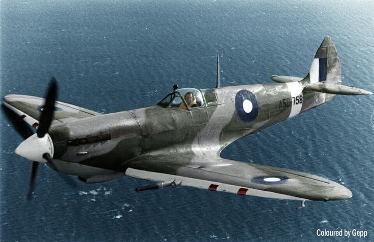 RAAF Spitfire HF.VIII A58 758 flown by Col Pay. It is now owned and flown by the Temora Aviation Museum.