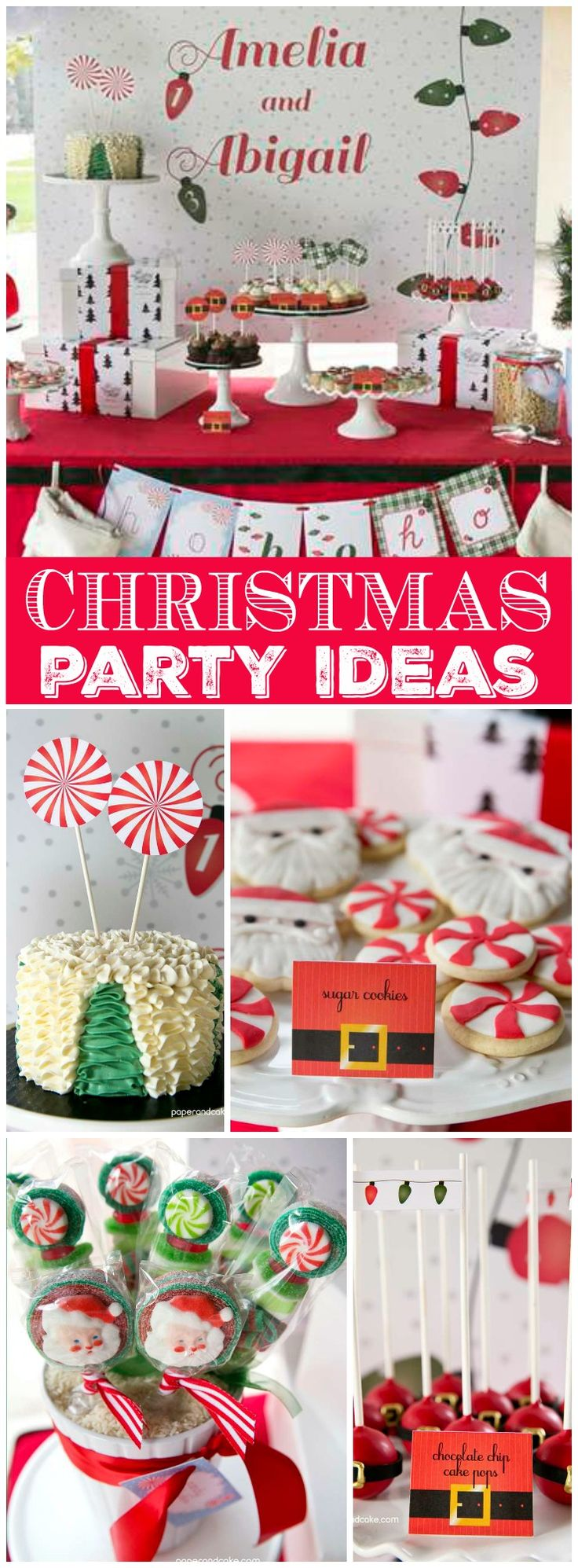 This Christmas party is filled with Santa themed treats! See more party ideas at CatchMyParty.com!
