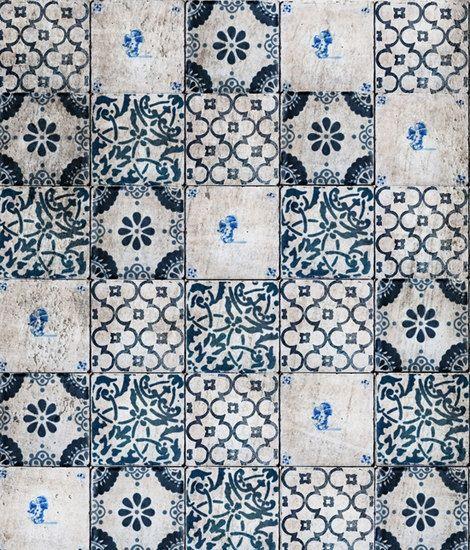 blue + white tile