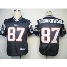 Patriots #87 Rob Gronkowski Dark Blue Stitched NFL Jersey