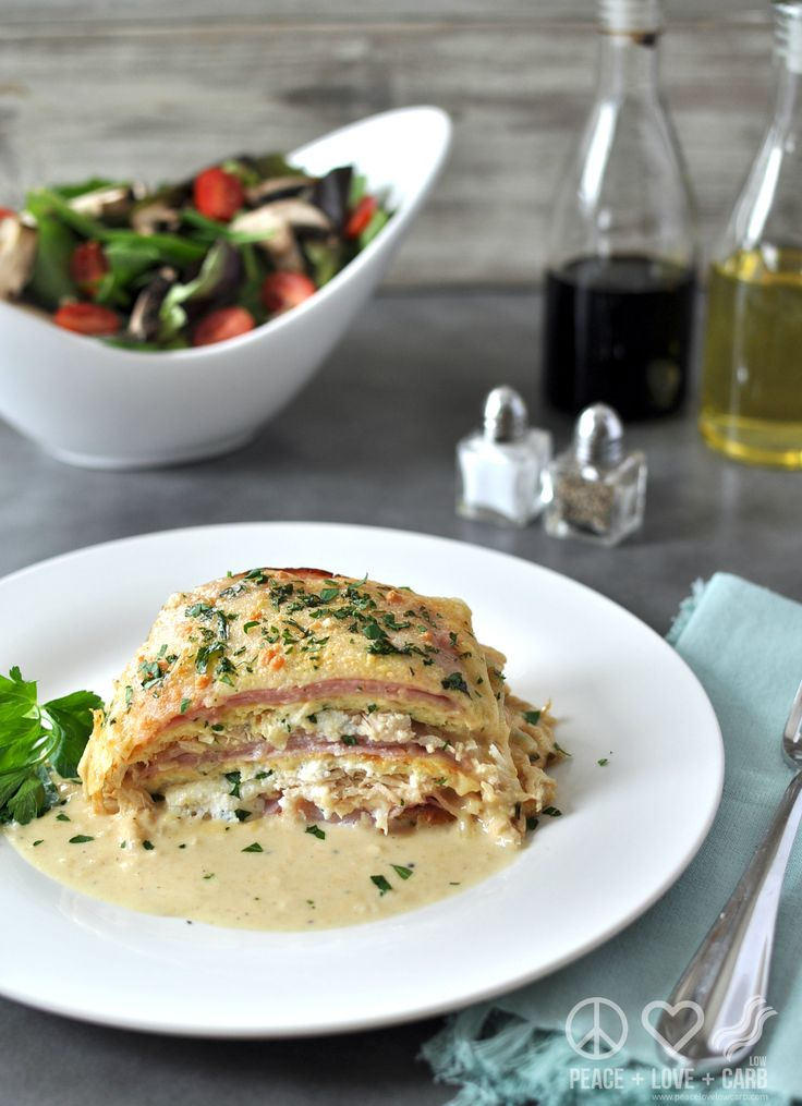 Chicken Cordon Bleu Lasagna - Low Carb, Gluten Free