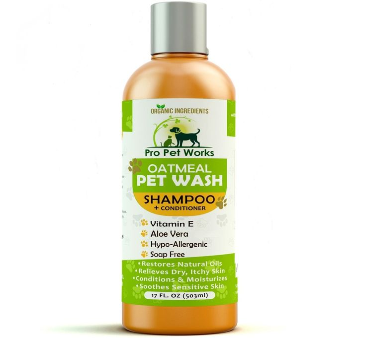 Pro cat Works Natural Organic Oatmeal cat Wash Dog Shampoo Conditioner with Aloe Vera-Medicated and Vet Recommended Anti-Itch Formula for Allergies and Sensitive Itchy Skin 17oz * Awesome cat product. Click the image : Cat Grooming