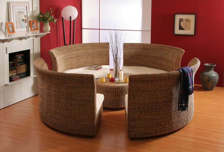 Featured. Inspiring Featured Vintage Makeover Home Ideas With Cement Flooring Tile Concept Also Rattan Sofa Bed Featured: Inspiring Rattan Round Living Room Design With Wooden Flooring And Red Wall For Modern Concept ~ wegli