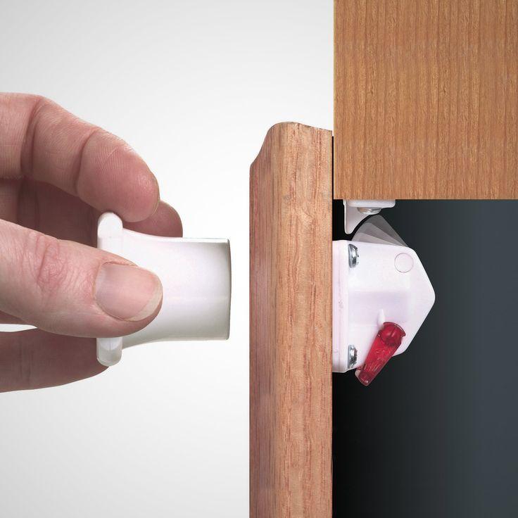 Child Proof Magnetic Cabinet Locks Kids Stuff Pinterest