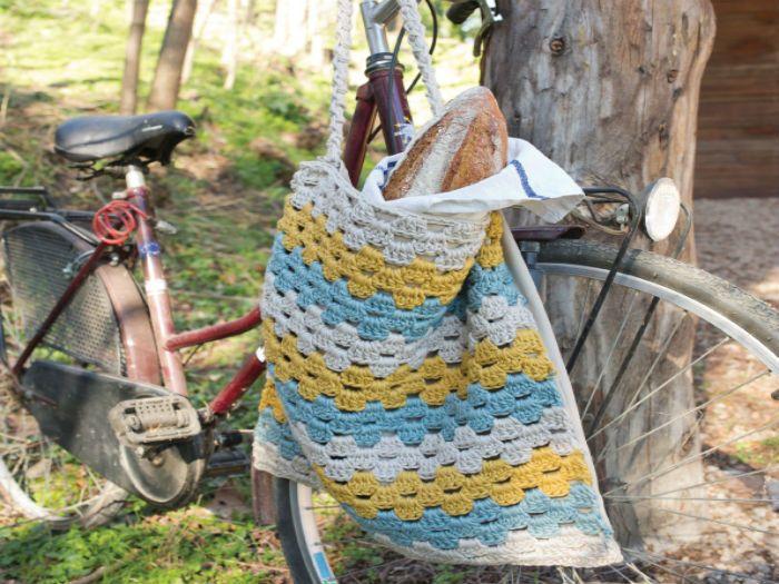 Aprende a tejer una práctica bolsa del pan con el patrón de DMC Natura XL ¡Presume de habilidades!