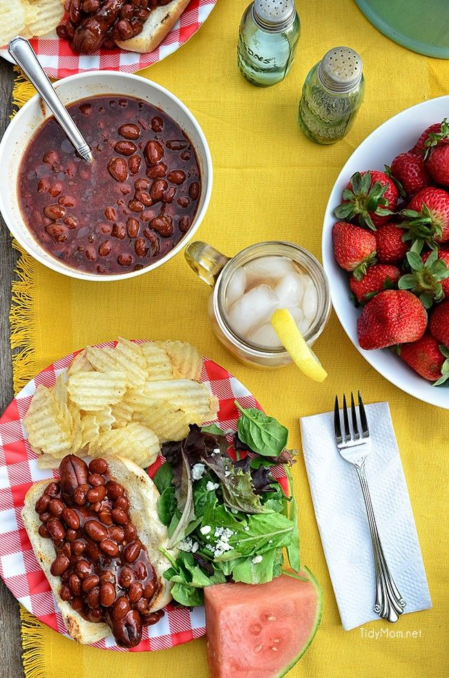 Don't settle for the same old hot dogs this summer.  Sweet Heat Franks and Beans grilled up for a quick dinner at TidyMom.net